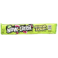 Now & Later Extreme Sour Watermelon Soft Chews - 24 6-Piece Bars