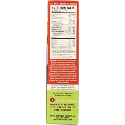 Whole Note 7-Whole-Grain, Lemon Ginger Muffin Mix, Naturally Gluten-Free (Pack Of 3)