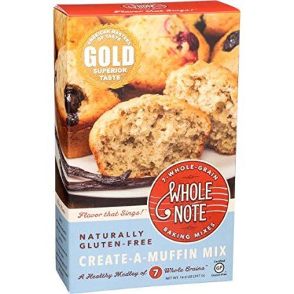 Whole Note 7-Whole-Grain, Create-A-Muffin Mix, Naturally Gluten-Free (Pack Of 3)