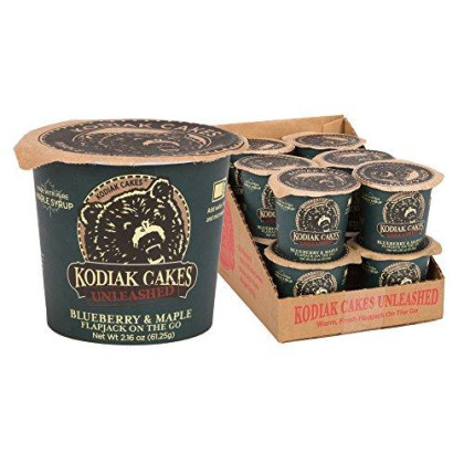 Kodiak Cakes Pancake On The Go High Protein Snack, Blueberry And Maple, 2.16 Ounce (Pack Of 12)