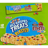 Rice Krispies Treats Blasted M&M'S Minis Square With Milk Chocolate Candies. 12 - 2.1 Oz Bars