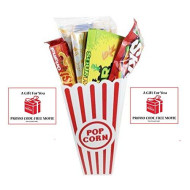 Movie Night Popcorn, Candy And Redbox Movie Gift Basket ~ Includes Movie Theater Butter Popcorn, Concession Stand Candy And A Gift Card For 2 Free Redbox Movie Rentals (Sour Patch Kids)