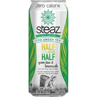 Steaz Zero Calorie Iced Green Tea -Half And Half - Green Tea And Lemonade, 16 Fl.Oz.(Pack Of 16).