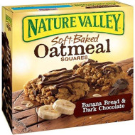 Nature Valley Soft-Baked Oatmeal Squares, Banana Bread And Dark Chocolate, 6 Count, 1.24 Oz (Pack Of 3)