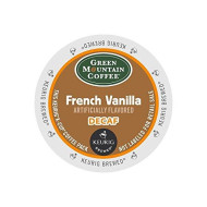 Green Mountain Coffee Roasters French Vanilla Decaf Coffee K-Cups For Keurig brevers, 24 Count (Packaging May Vary)