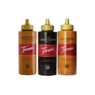 Torani 16.5Oz Fall Favorite 3-Pack, Pumpkin Pie, Chocolate And Caramel Sauces