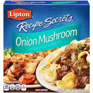 Lipton Recipe Secrets Onion Mushroom Recipe Soup & Dip Mix 1.8Oz, (Pack Of 3)