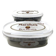 Marsha'S Buckeyes Chocolate Peanut Butter Candy, Homemade Premium Quality, 8 Ounce Deli Containers (Set Of 2)