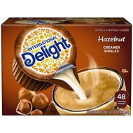 International Delight, Hazelnut, Single-Serve Coffee Creamers, 48 Count (Pack Of 4), Shelf Stable Non-Dairy Flavored Coffee Creamer, Great For Home Use, Offices, Parties Or Group Events