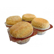 Low Carb Banana Muffins (4 Pack) - Fresh Baked - Lc Foods - All Natural - No Sugar - Diabetic Friendly