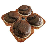 Low Carb Chocolate Muffins (4 Pack) - Fresh Baked - Lc Foods - All Natural - Gluten Free - No Sugar - Diabetic Friendly