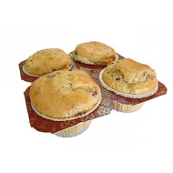 Low Carb Orange Cranberry Muffins (4 Pack) - Fresh Baked - Lc Foods - All Natural - No Sugar - Diabetic Friendly