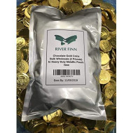 Solid Milk Chocolate Large Kennedy Gold Coins - 2 Full Pounds