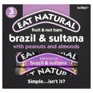 Eat Natural Brazils Nuts, Sultanas & Almonds Bars 3 X 50G
