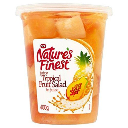 Nature'S Finest Tropical Fruit In Juice 400G