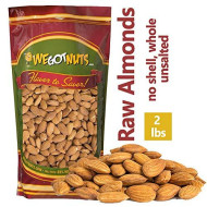 We Got Nuts Jumbo Almonds (Whole, Raw, Shelled, Unsalted) (2 Pounds)
