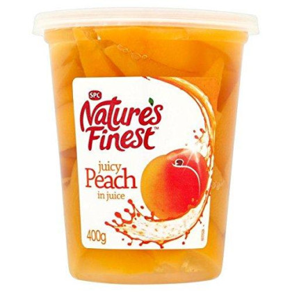 Nature'S Finest Peach Slices In Juice 400G - Pack Of 2