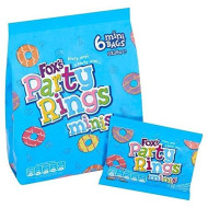 Fox's Mini Party Rings 6 x 25g - Pack of 2