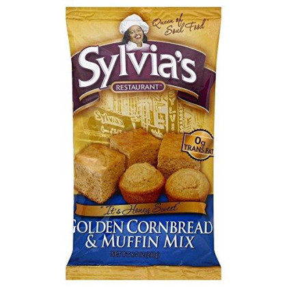 Sylvias Golden Cornbread And Muffin Mix 8.5 Oz (Pack Of 6)