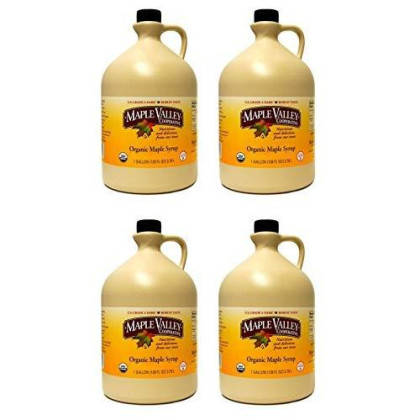 Maple Valley Pure Organic Maple Syrup - 128 Oz. Grade A Dark Robustformerly Grade B In Bpa-Free Plastic Jug Case Of 4