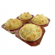 Low Carb Biscuits (4 Pack) - Fresh Baked - Lc Foods - All Natural - No Sugar - Diabetic Friendly