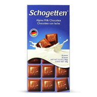 Schogetten, Alpine Milk Chocolate Bar 3.5Oz (5 Pcs)