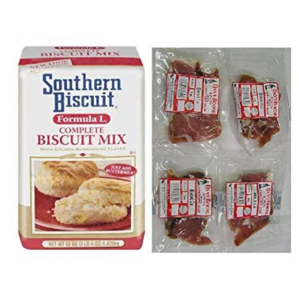 Southern Biscuit Formula L Biscuit Mix (52 Oz) And 4-3 Oz. Pkgs Country Ham