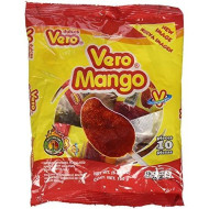 Vero Mango, Chili Covered Mango Flavored Lollipops, 2 Bags, 20 Pieces