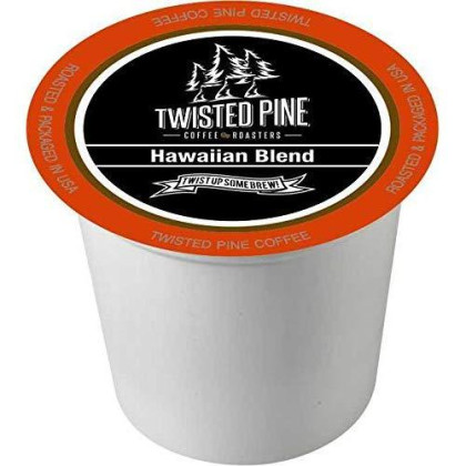 Twisted Pine Hawaiian Blend Coffee, Single-Serve Cups For Keurig K-Cup brevers, 24 Count