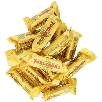 Toblerone Tiny Mini Swiss Chocolate Bars - Fun Size - 100 Count