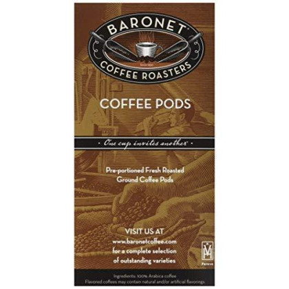 Baronet Coffee Decaf Chocolate Fudge Coffee Pods, 54 Count