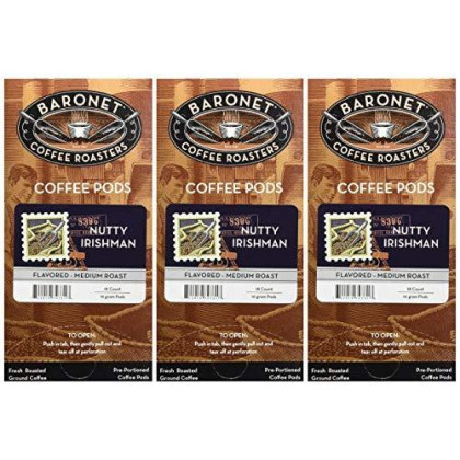 Baronet Coffee Nutty Irishman Coffee Pods, 54 Count