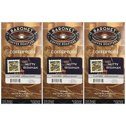 Baronet Coffee Nutty Irishman Mega Coffee Pods, 48 Count