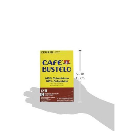 Cafe Bustelo 100% Colombian Kcup, 3.81 Ounce