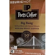 Peet'S Coffee, K Cup Single Serve, Big Bang, Medium Roast, 10 Count, 4.3Oz Box (Pack Of 3)