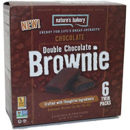 Natures Bakery Double Chocolate Brownie, Chocolate, 6 Count (Pack Of 4)