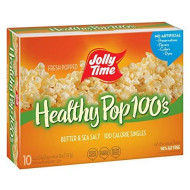 Jolly Time Healthy Pop Butter Mini Bags   100 Calorie Microwave Popcorn Single Serve Bags, Low Fat Individual Snack Size (10-Count Box, Pack Of 3)