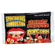 Spontaneous Combustion Ghost Pepper Microwave Popcorn - 3 Pack - Ultimate Spicy Gourmet Gift - Try If You Dare!