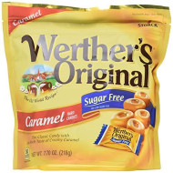 Werther'S Original Sugar Free Caramel Hard Candy, Sugar Free Candy, Caramel Candy, Individually Wrapped Candy, Low Carb Candy, 7.7 Ounce Bag