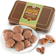 Milk Chocolate Caramel Pecan Clusters Gift Tin