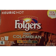 Folgers Gourmet Selections Lively Colombian Coffee, K-Cup For Keurig brevers, 12 Count