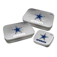 Worthy Promotional Nfl Dallas Cowboys Decorative Mint Tin 3-Pack With Sugar-Free Mini Peppermint Candies