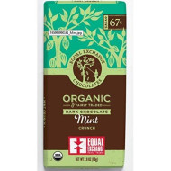 Equal Exchange Organic Extra Dark Chocolate Mint 2.8 Oz