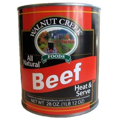 Walnut Creek All-Natural Beef Chunks, 28 Oz. Can (Pack of 4)