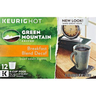 Green Mountain Keurig Decaf Coffee Breakfast Blend, 12 Ct