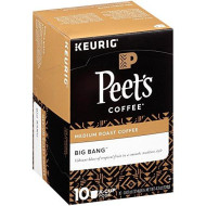 Peet's Coffee K-Cup Packs Big Bang Medium Roast Coffee 10 Count (Pack of 4)