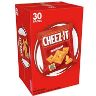 Cheez-It Original Cheese Crackers - School Lunch Food, Baked Snack, Single Serve, 1 oz Bag (Pack of 30)