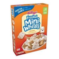 Kellogg'S Breakfast Cereal, Frosted Mini-Wheats, Original, Low Fat, Excellent Source Of Fiber, 18 Oz Box