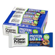Orgain Organic Protein Bar, Peanut Butter Chocolate Chunk, 12 Count