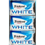 Trident White Peppermint Sugar Free Gum - 16 Ct. - 12 Pk. (Pack Of 2)